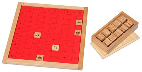 Betzold Pythagorasbrett - Montessori-Material Mathematik Schule Kinder Lernen Montessorischule lehren Lehrmittel Arbeitsmittel Schüler Montessoripädagogik Ansatz Pädagogik Rechnen Lernen