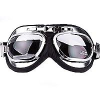 ブラックレザークラシックオートバイコンパクトゴーグル クラシックFlying Goggles