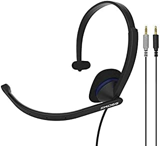Koss CS195 Communication Headset Headphones | Single-Sided | 3.5mm Analog Plugs | Lightweight | D-Profile | Noise-Cancelling Electret Microphone | for Telephones and Office Phones [並行輸入品]