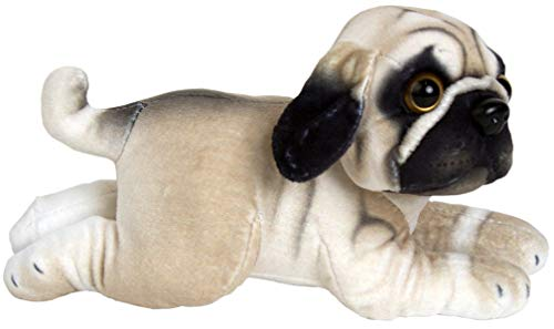 JESONN 10 Inch Plush Stuffed Animals Toy Dog (Pug Dog)