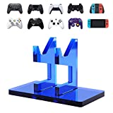 OAPRIRE Game Controller Stand Holder for XBOX ONE PS4 PS5 STEAM SWITCH PC - Universal Gaming Gamepad Controller Accessories with Crystal Texture - Create Exclusive Game Fortresses - Blue