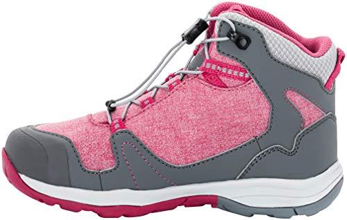 Jack Wolfskin Grivla Texapore Mid G Wasserdicht, Chaussures de Randonnée Hautes Femme, Gris (Azalea Red), 40 EU