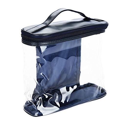 Cosmetische tas, draagbare transparante cosmetische toilettas Container Case Organizer Make-up Case Beauty Artist Storage Brush Box voor huishouden en reizen
