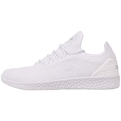 Kappa Unisex-Erwachsene ICON KNT OC Sneaker, Weiß (White 1010), 45 EU