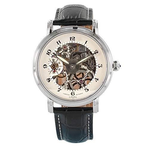 Uomini orologio meccanico scheletro Laval 1878