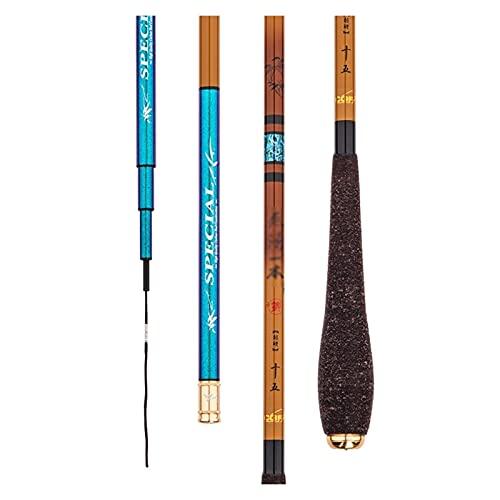 XFYJR Caña De Pescar Pole De Pesca Telescópico Carbono Ultraligero Portátil Portátil Súper Duro Pole De Hilado Crucian (Color : A, Size : 4.8m)