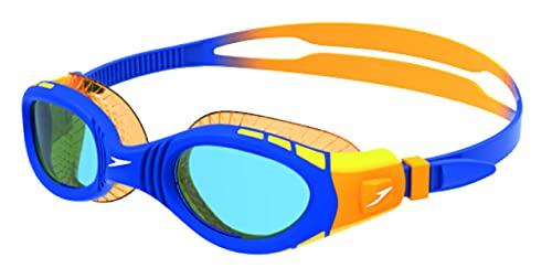 Speedo Futura Biofuse Flexiseal Gafas Natación Infantil para Piscina, Color Naranja/Azul, Talla unica