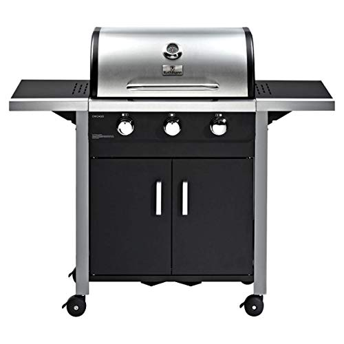 ROTHMANN Gasgrill Grillwagen Barbecue Grill Standgrill Ottawa 3 Brenner