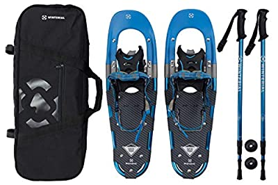 Winterial Back Trail Snowshoes 2017 / Recreational Snowshoes/Snowshoeing/Snowshoe/Backcountry Snowshoeing/Rolling Terrain Snowshoes/Poles and Carry Bag Included!