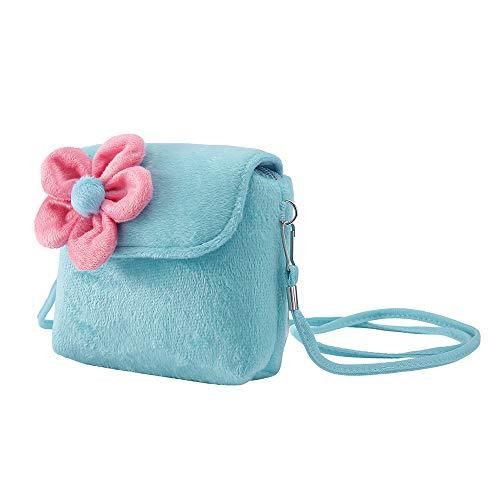 SUCES Kinder Mädchen Prinzessin Geldbörsen Mini Tasche mit Blumen Crossbody Schön Umhängetaschen Paket für Kleinkinder Handtasche Niedlich Kindertaschen Kette Schultertasche