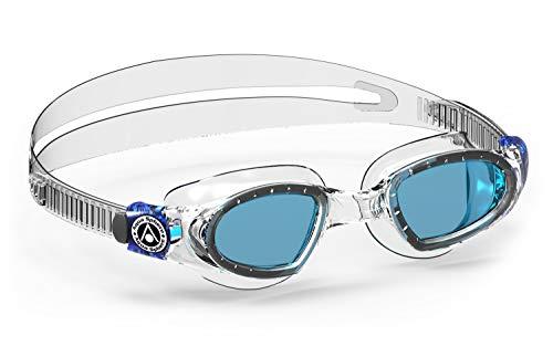 Aqua Sphere Unisex-Youth Mako 2 Schwimmbrille, transparent blau/blaues Glas, Einheitsgröße