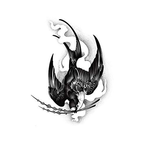 3 feuilles d'hirondelle tatouage temporaire couvrant les cicatrices Fête costumée tatouage autocollants