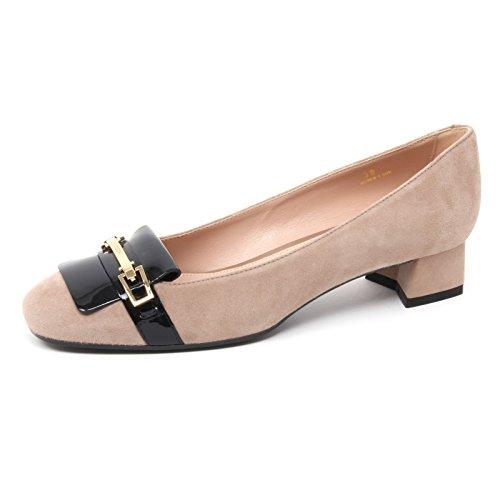 Tod's B4416 Decollete Donna T30 Scarpa beige/Nero Shoe Woman [36.5]