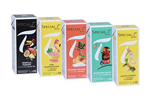 Special.T – Exotic Set – Schwarz-, Grün-, Früchte-, und Rooibostees (5 Sorten à 10 Kapseln)