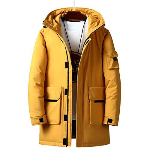 JFSKD Winter jeugd donsjack losse dikke capuchon mid-length donsjack katoen stof trui hals ontwerp natuurlijk zacht