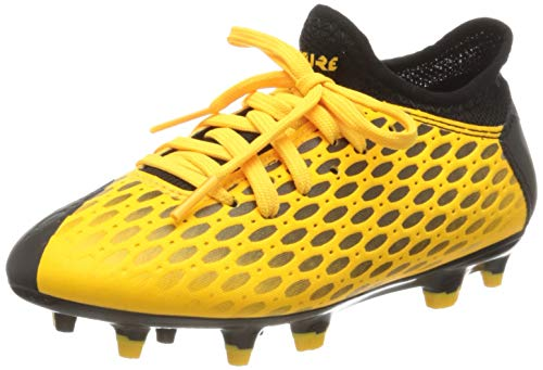PUMA Future 5.4 FG/AG Jr, Zapatillas de Fútbol Unisex Niños, Amarillo (Ultra Yellow Black), 34 EU