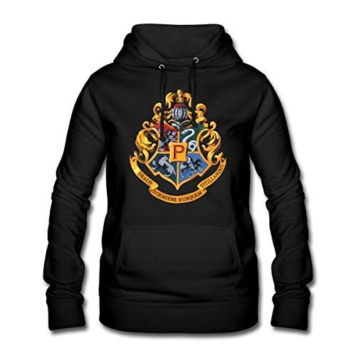 Harry Potter Emblème Poudlard Peinture Sweat À Capuche Femme, S, Noir