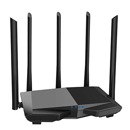 ZXCV Kabelloser WLAN-Router AC1200 mit Dualband-WLAN-Repeater/Client + AP/WISP, Unterstützung für APP-Verwaltung, einfache Einrichtung,Black