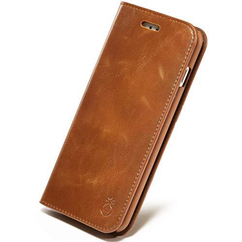 HONGGE Funda de Cuero de Lujo MUSUBO para iPhone XS MAX 7 Plus Wallet Phone Stand Cover para iPhone 8 6 más 6s más SE 11 Pro X Casos Coque (Bundle : 2, Color : E)