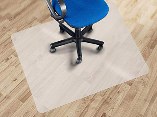 Clothink Bodenschutzmatte 120x130cm Semitransparent aus PP für Hartböden Parkett, Laminat,Stein,Fliesen,Kork