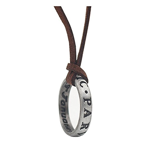 Collana placcata in argento Sterling 925 con ciondolo a forma di 4 Drake, catenina in pelle marrone