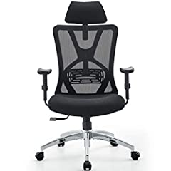 【Adjustable Mesh Chair】You can adjust lumbar support height and depth; headrest height and angle; armrest height; seat cushion height; tilting angle up to 140°and rocking resilience to your personal most comfortable position 【Ergonomic Backrest & Arm...