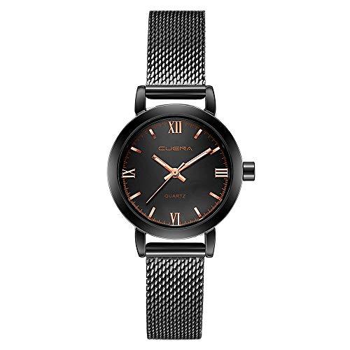 Neuer Trend Armbanduhr Damen Ultradünne Edelstahl Uhren, Frauen Einfache Klassisch Analog Quarz Uhren mit Mesh Wrist Watch Damenuhren Fashion Geschenk Ausverkauf LEEDY