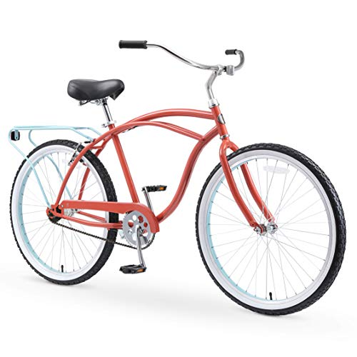 Sixthreezero Around the Block Men's Single-Speed Beach Cruiser Bicycle