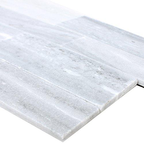 Wandverblender Belling Selbstklebend Grau | Wandfliesen | Selbstklebend | Schiefer | Fliesen-Bordüre | Ideal für die Küche und Badezimmer (auch als Muster erhältlich)