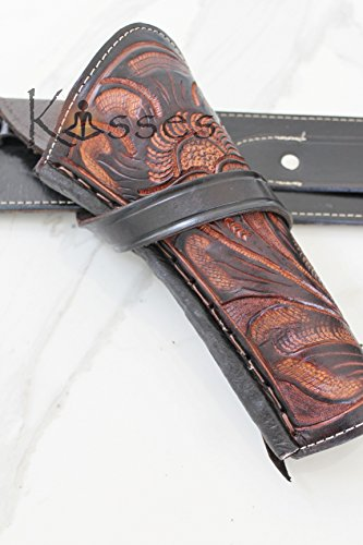 New Right Hand Cross Draw Tooled Leather Case Revolver Holster