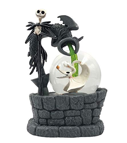 Nightmare Before Christmas Light Up & Musical Waterglobe Jack Skellington & Zero