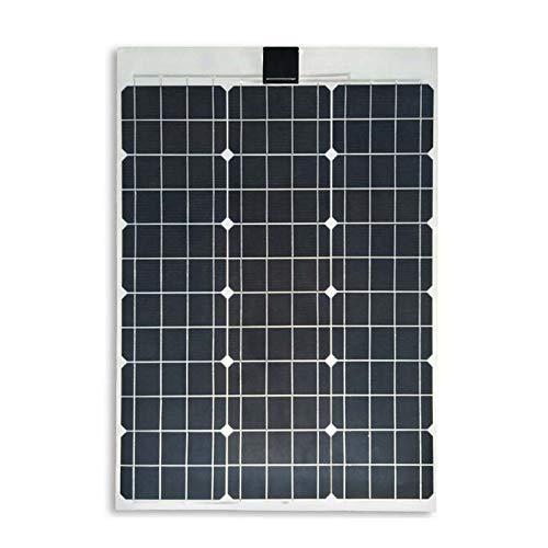 Wgwioo Panel Solar Flexible, Cargador De Paneles Solares Monocristalinos, para Superficies Irregulares De Cabina De Barco RV Van Coche