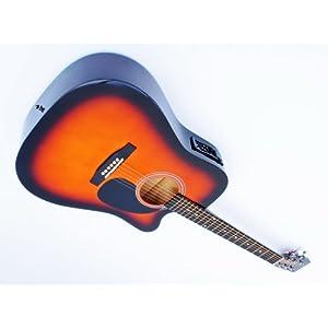 Cherrystone 4260180883275 Cutaway 4 Band EQ Westerngitarre mit Tonabnehmer sunburst