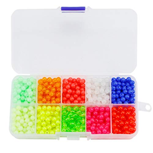 CandyTT Luya Block Pearl Luminous Block Bean Set 1000 Kapseln verpackt Luya Zubehör Set Angelzubehör (Mehrfarbig)