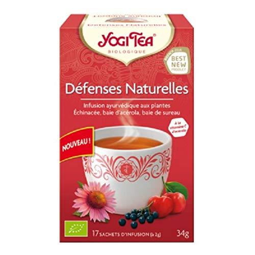 Yogi Tea - Infusion Défenses Naturelles - 17 Sachets Bio - Lot De 3 - Livraison Rapide En France - Prix Par Lot