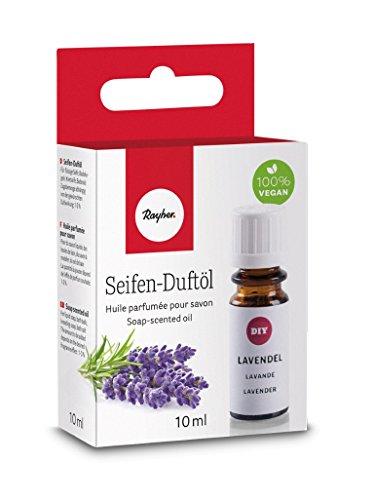 Rayher 34253000 Hobby Seifen Duftöl (100% vegan, in Glasflasche mit Kindersicherheitsverschluss, hautpflegende und wohltuende Wirkung) Lavendel, 10 ml