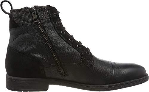 Geox Herren U JAYLON J Klassische Stiefel, Schwarz (Black C9999), 40 EU
