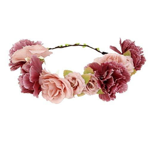WINOMO Blumenkrone Festival Haarkranz Blumenstirnband
