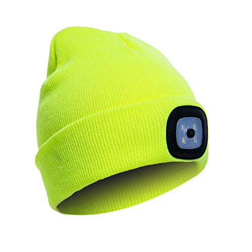 ZLSANVD Sombrero de Beanie LED con luz, USB Recargable Unisex Winter Winter Lightlight Hats, Hombres Mujeres Manos Faro Libre, Camping Senderismo Pesca en Bicicleta (Color : 04)