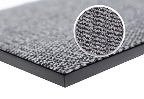 wellmax Barrier Mats - Heavy Duty, Non Slip Backing - 4 Colours- Indoor/Outdoor (Grey-Black, 40 x 60 cm)