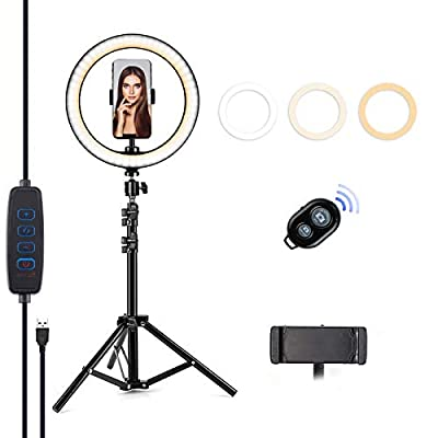 """Letyet 10"""" Selfie Ring Light with Tripod Stand..."""