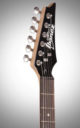 Ibanez 6 String Solid-Body Electric Guitar, Right, Transparent Black Sunburst (GRX70QATKS)