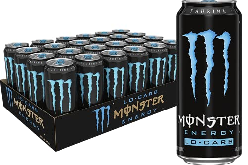 Monster Energy, Lo-Carb Monster, Low Carb Energy Drink, 16 Ounce (Pack of 24)
