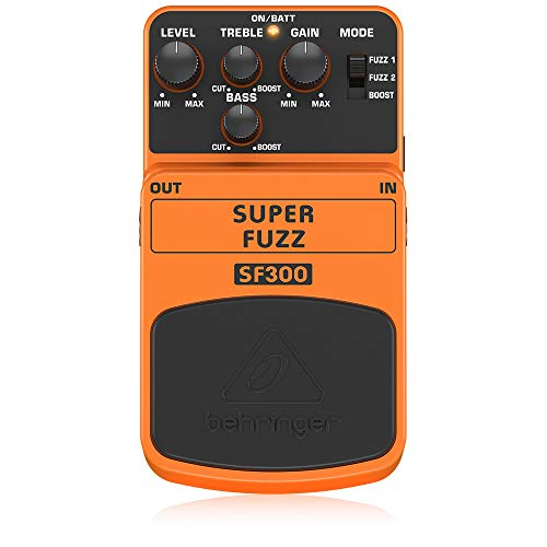 Behringer SF300, Pedal de distorsión para guitarra, color naranja, SUPER FUZZ SF300, Guitar Pedal