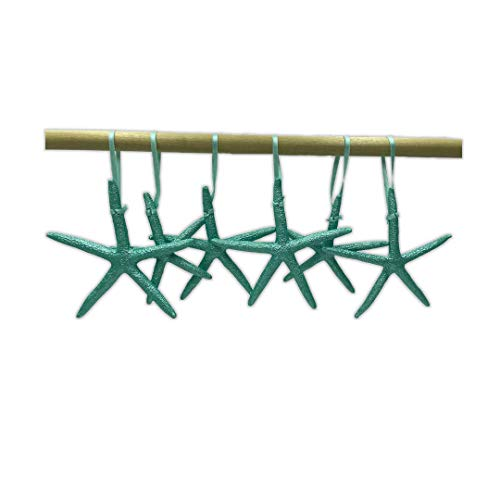 Starfish Christmas Tree Ornaments (Metallic Turquoise)