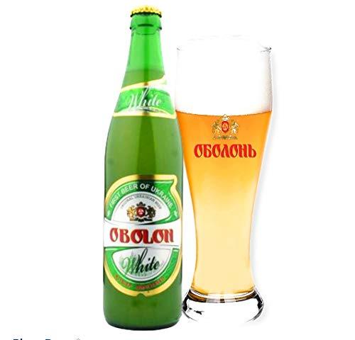 8 Flaschen Obolon White, Weissbier ungefilter Originalimport aus der Ukraine 0,5l 4,7% Alc