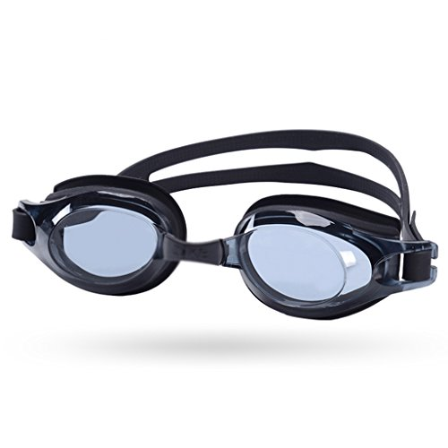 CL& Nuoto Occhiali Formazione Nuoto Attrezzature HD Anti-Fog Impermeabile Pingguang Bordo Grande Occhiali da Nuoto (Colore : Nero)