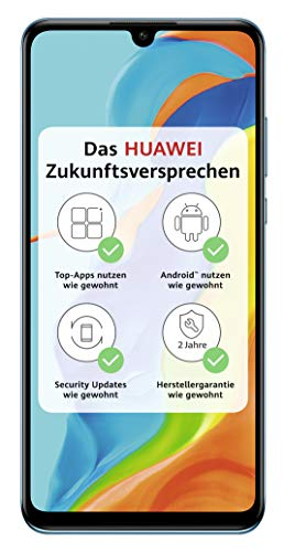 HUAWEI P30 lite NEW EDITION Smartphone Bundle (15.6cm (6.15 Zoll) 256GB interner Speicher, 6GB RAM, Dual SIM, Android, EMUI 9.0.2) Breathing Crystal + 16GB SD Karte [Exklusiv bei Amazon]