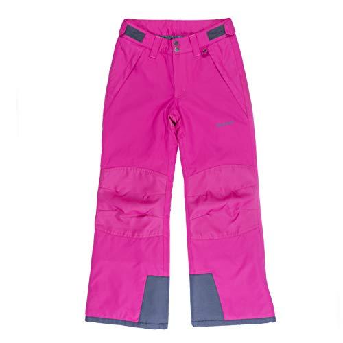 SkiGear Kinder-Schneehose mit verstärktem Knie und Gesäß, Fuchsia, Größe L, reguläre Passform