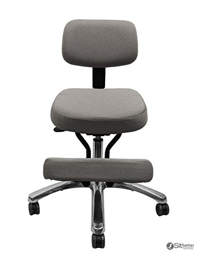 Jobri Grey Jazzy Chrome Deluxe Kneeling Chair